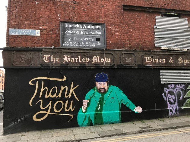He lifted the gloom of the nation': Dublin says goodbye to