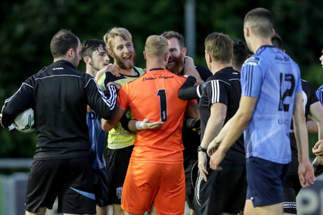 Tempers flare between the sides after the game