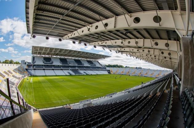 A view of Páirc Uí Chaoimh ahead of the game