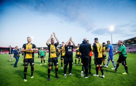 FC Progres Niederkorn celebrate after the game
