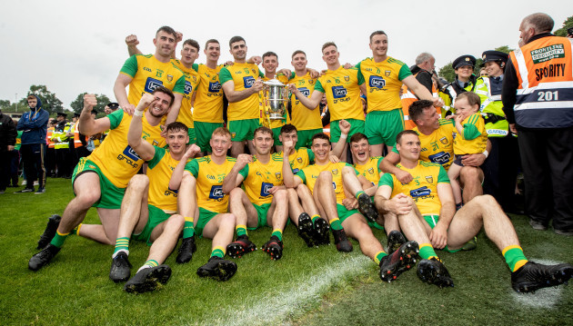 The Donegal team celebrate