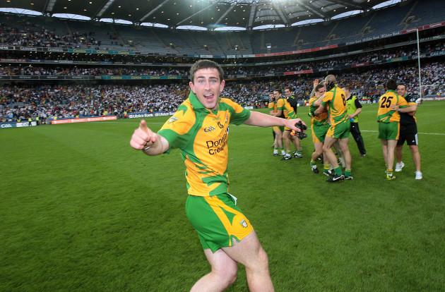 Patrick McBrearty celebrates the final whistle
