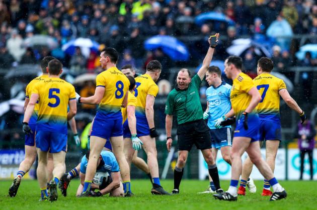 Padraig O'Sullivan awards a free to Dublin
