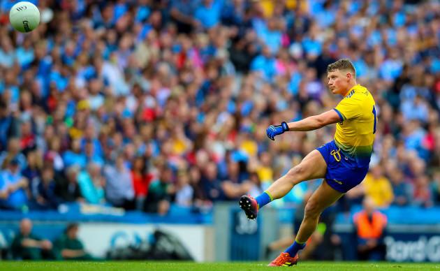 Conor Cox scores a free