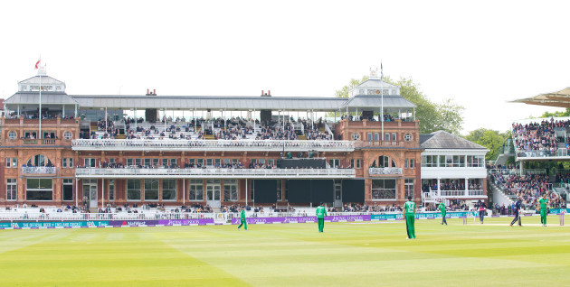 Ireland field in front of the Lord's pavilion
