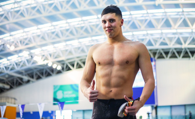 Darragh Greene breaks the Irish record for 200m Breastroke