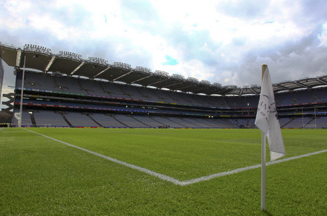 A general view of Croke Park before the game