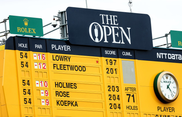 A view of the leaderboard ahead of the final day