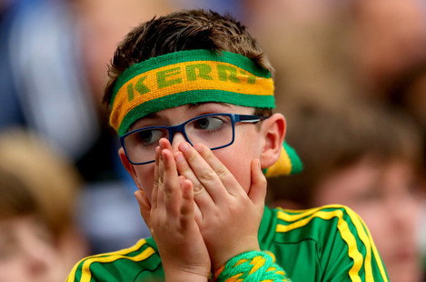A dejected Kerry fan