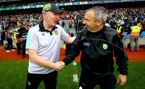 Declan Bonner with Peter Keane