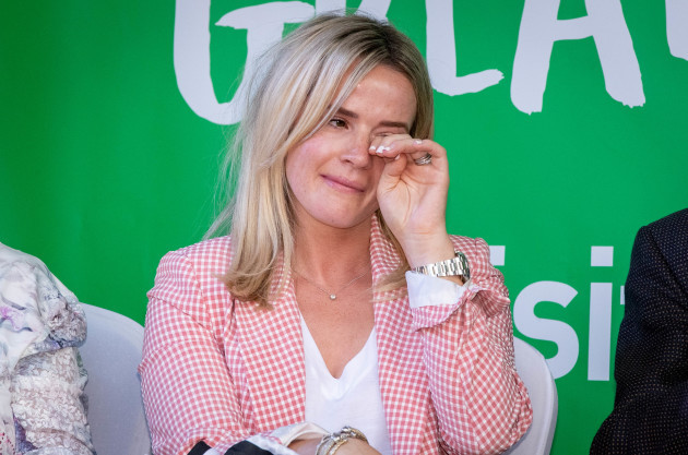 Shane Lowry's wife Wendy Honner at his homecoming in  Clara 23/7/2019