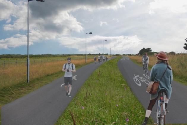 BaldoylePortmarnock Greenway Artist's impression