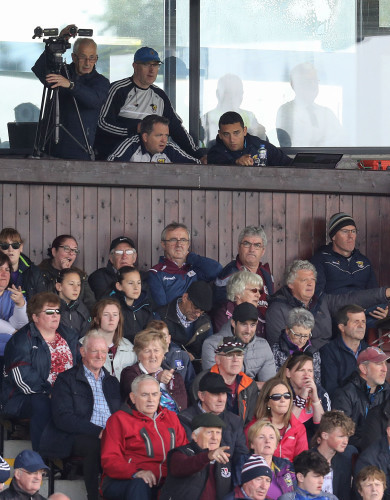 Davy Fitzgerald watches from the stand