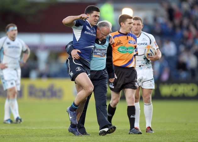 Eoin O'Malley goes off injured