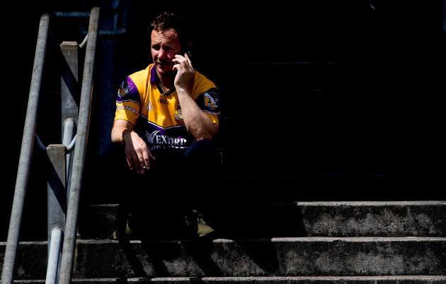 A Wexford fan ahead of the game