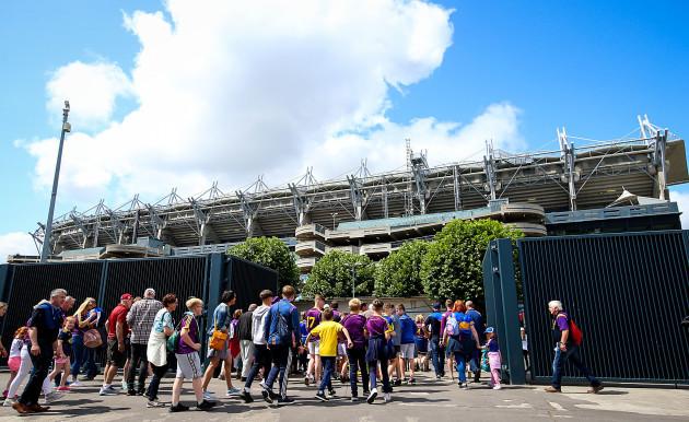 Fans arrive at Croke Park