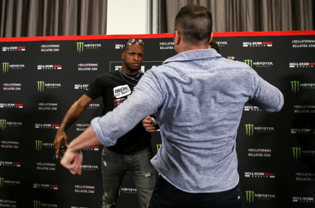 Michael 'Venom' Page and Richard Kiely scuffle