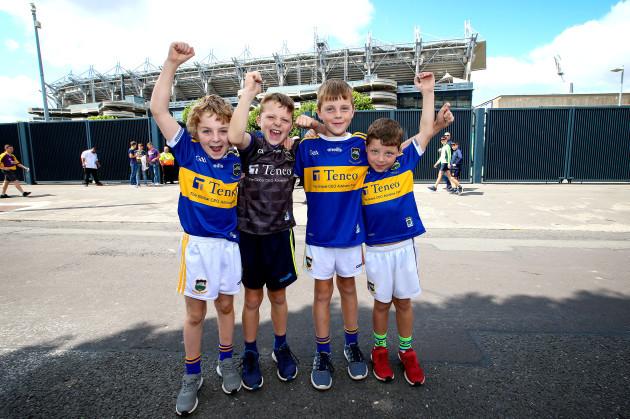 Conor Kiely Gearoid Maguire, Ruairi Maguire and Fionn Maguire