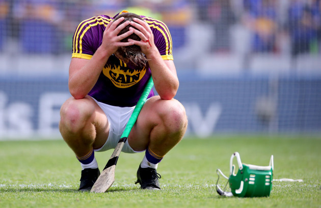 Conor McDonald dejected after the game