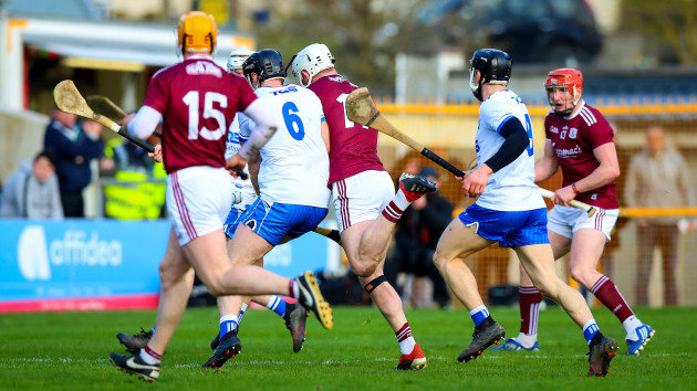 Joe Canning challenged by Kevin Moran