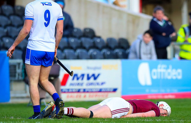 Joe Canning lays injured