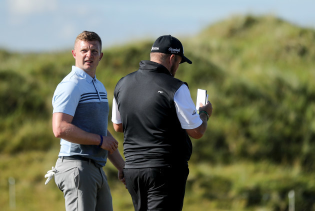 Joe Canning with Shane Lowry on the 6th hole