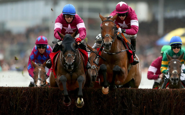 Mark Enright on Clarcam (left) on his way to winning the race