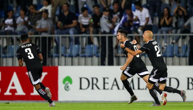 Jaime Romero Rodrigues celebrates scoring his sides first goal