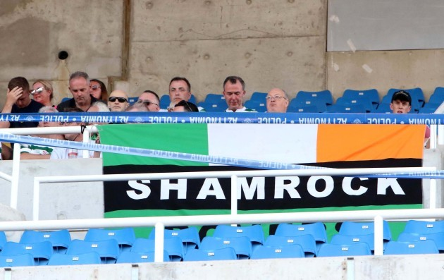 Shamrock Rovers fans ahead of the game