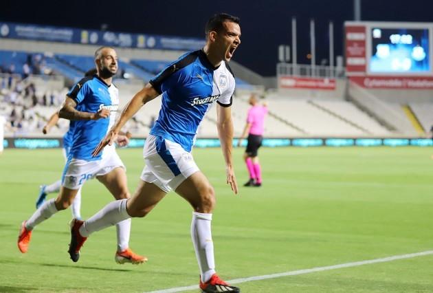 Emilio Jose Zelaya celebrates scoring their first goal