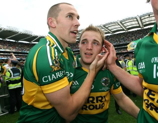 Darran O'Sullivan celebrates with Sean O'Sullivan