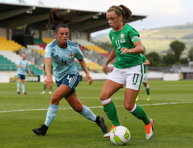 Republic of Ireland Women v N Ireland Women - FIFA Women's World Cup 2019 - UEFA Qualifier - Group 3 - Tallaght Stadium