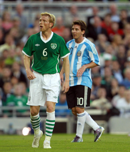 Paul Green with Lionel Messi