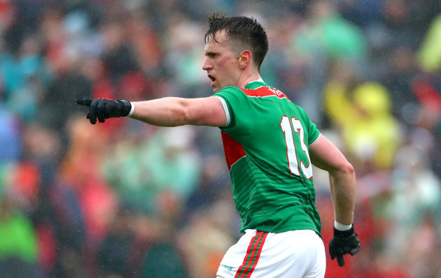 Cillian O'Connor celebrates scoring his sides opening goal