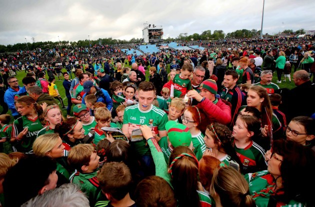 Fionn McDonagh with fans after the game