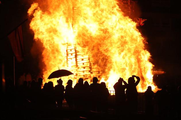 Bonfire in north Belfast