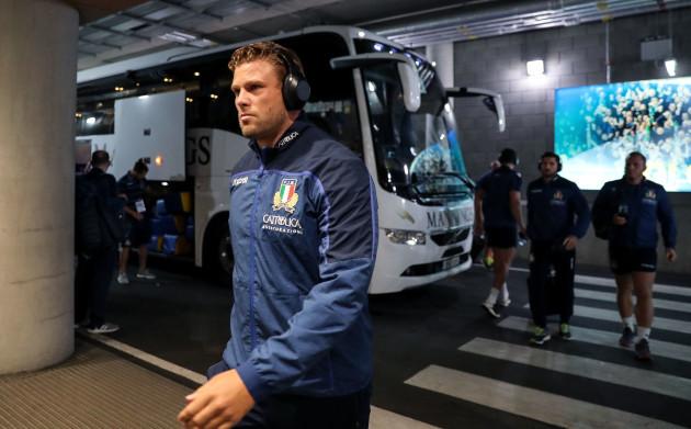 Dean Budd arrives