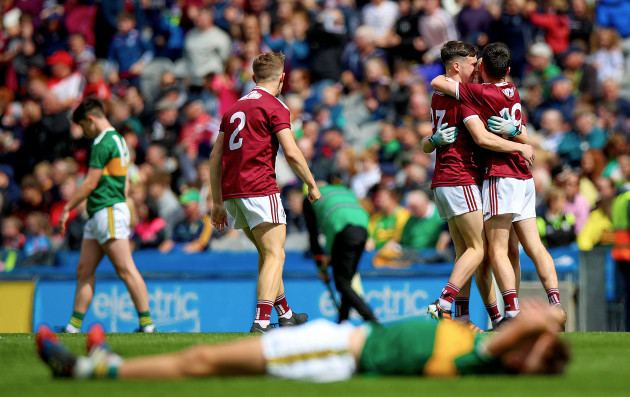 Galway celebrate at the final whistle