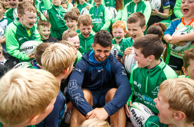Tiernan O'Halloran with kids from the summer camp