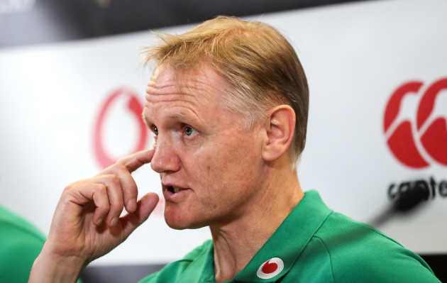 Joe Schmidt during the post match press conference
