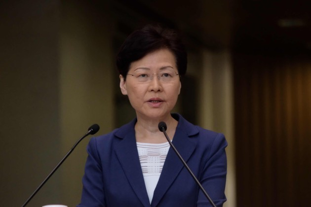CHINA-HONG KONG-CARRIE LAM-APPEAL-STOP VIOLENCE (CN)