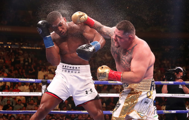 Andy Ruiz Jr and Anthony Joshua File Photo