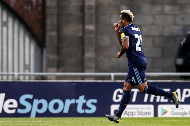 Rafael Ratao celebrates scoring a goal