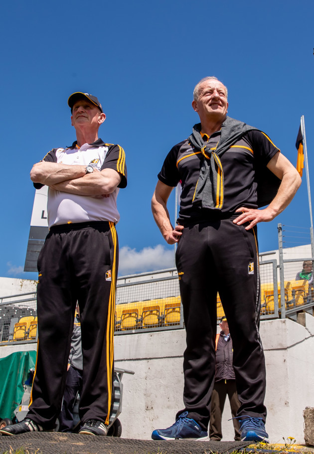 Brian Cody and Michael Dempsey before the game
