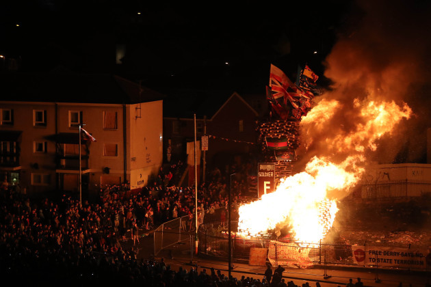Londonderry bonfire