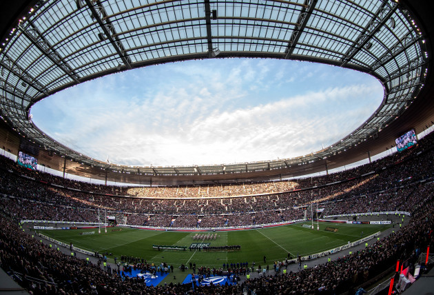 General view of the Stade de France as the two teams make their way out