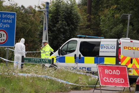 scene of police officer murder