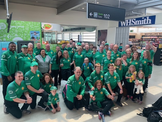 Transplant Team Ireland and supporters ready to depart from Dublin airport for WTG19