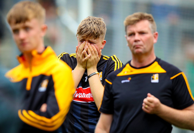 Aidan Tallis dejected after the game