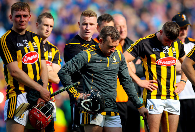 Richie Hogan dejected after the game